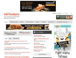 csifoodpro.com screenshot