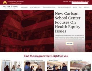 csom.umn.edu screenshot
