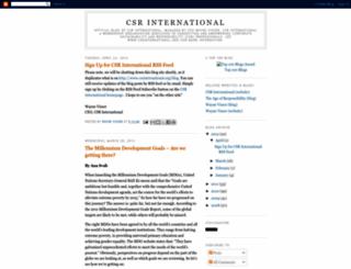 csrinternational.blogspot.com screenshot