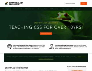 csstutorial.net screenshot