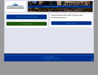csusb.sona-systems.com screenshot