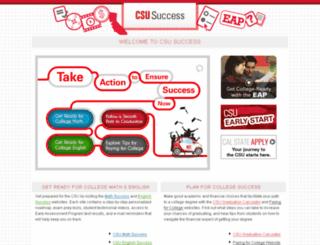 csusuccess.org screenshot