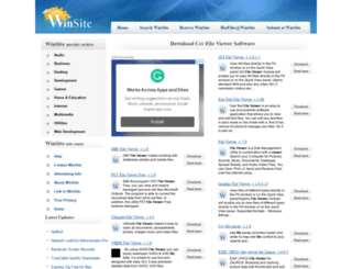 csv-file-viewer.winsite.com screenshot