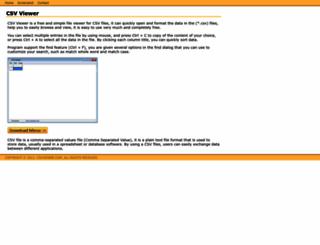 csvviewer.com screenshot