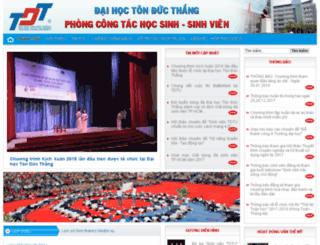 ctct-hssv.tdt.edu.vn screenshot