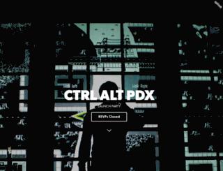 ctrlaltpdx.splashthat.com screenshot