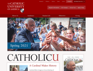 cuamagazine.cua.edu screenshot