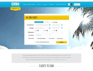 cubajet.com screenshot