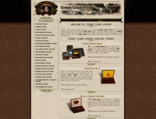 cubancigarlounge.com screenshot