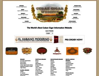 cubancigarwebsite.com screenshot