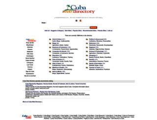 cubawebdirectory.com screenshot