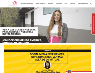 cuc.edu.mx screenshot