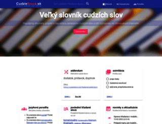 cudzieslova.sk screenshot