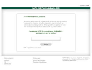 cuentaleasubway.com screenshot