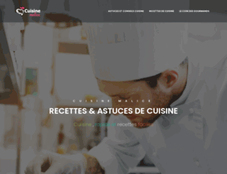 cuisine-malice.com screenshot