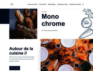 cuisine-monochrome.com screenshot