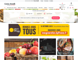 cuisineactuelle-mail.com screenshot