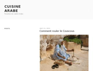 cuisinearabe.com screenshot