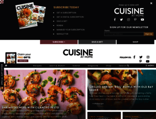 cuisineathome.com screenshot