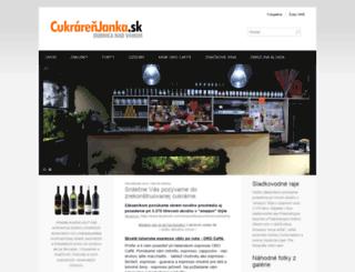 cukrarenjanka.sk screenshot