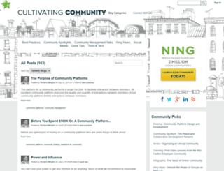 cultivate.ning.com screenshot