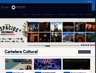 culturaqueretaro.gob.mx screenshot