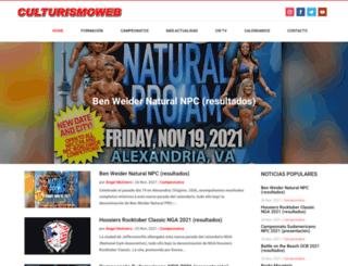 culturismoweb.com screenshot