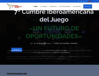 cumbreiberoamericanadeljuego.com screenshot