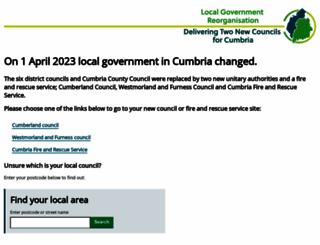 cumbria.gov.uk screenshot