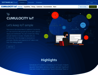 cumulocity.com screenshot