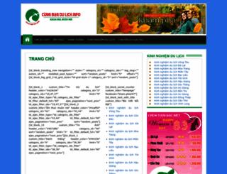 cungbandulich.info screenshot