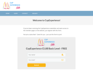 cupexperience.com screenshot