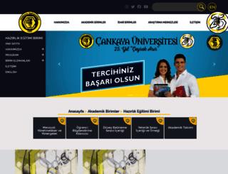 cups.cankaya.edu.tr screenshot