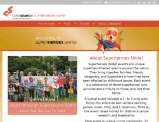 curesearchwalk.org screenshot