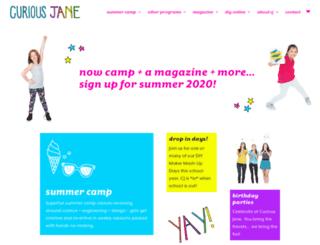 curiousjanecamp.com screenshot