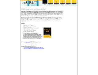 curl.phptrack.com screenshot