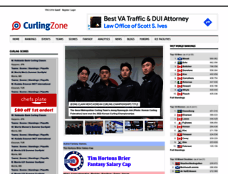 curlingzone.com screenshot