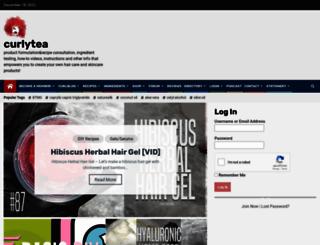 curlytea.com screenshot