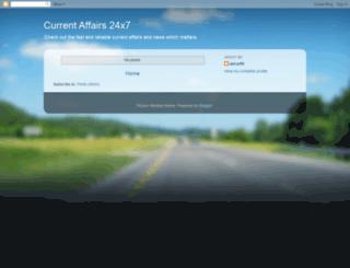 currentaffair24x7.blogspot.com screenshot