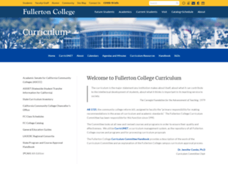 curriculum.fullcoll.edu screenshot