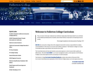curriculum.fullcoll.edu screenshot