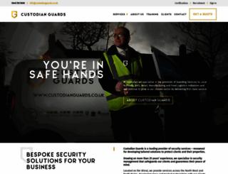 custodianguards.co.uk screenshot