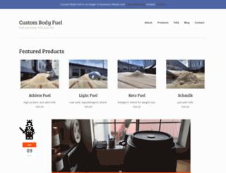 custombodyfuel.com screenshot