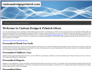 customdesignprinted.com screenshot