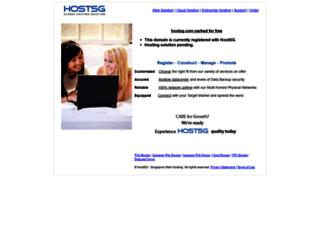 customer.hostsg.com screenshot