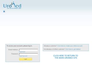 customer.uromed.com screenshot