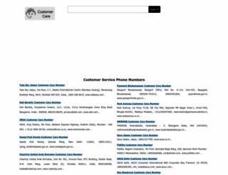 customercarenumbers.net screenshot