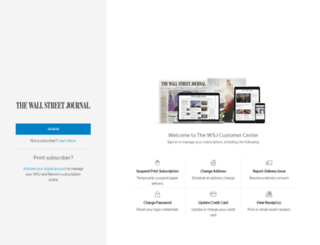 customercenter.wsj.com screenshot