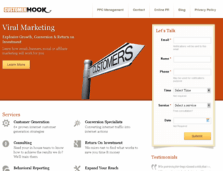 customerhook.com screenshot