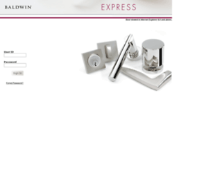 customerportal.baldwinhardware.com screenshot